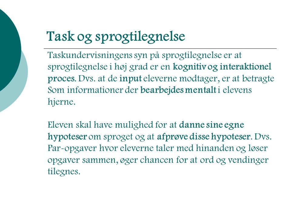 Task og sprogtilegnelse