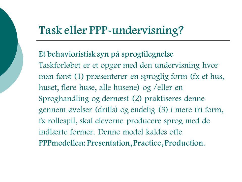 Task eller PPP-undervisning