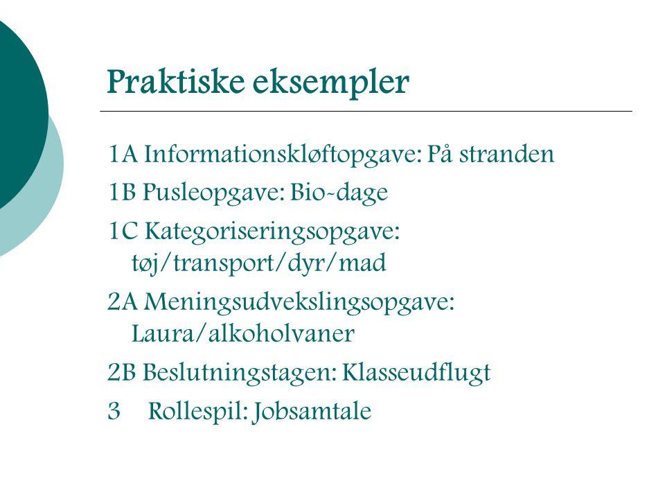 Praktiske eksempler 1A Informationskløftopgave: På stranden