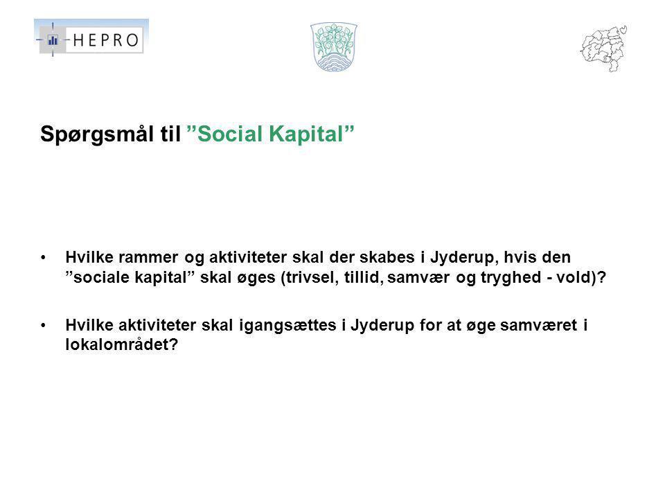 Spørgsmål til Social Kapital