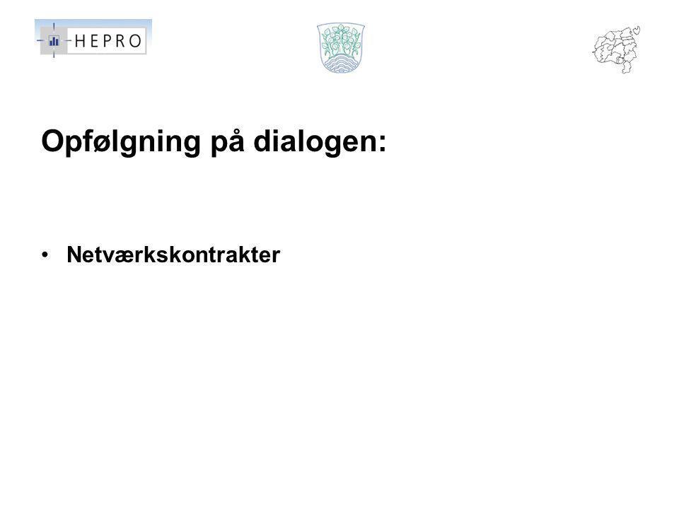 Opfølgning på dialogen: