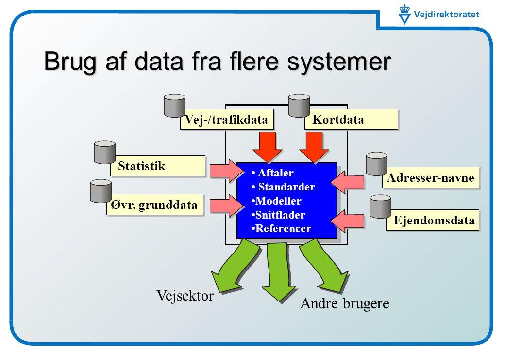 Brug af data fra flere systemer