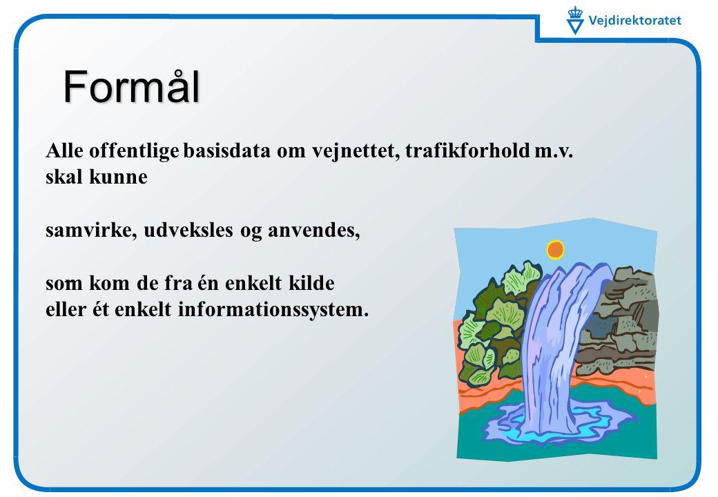 03-04-2017 Formål. Alle offentlige basisdata om vejnettet, trafikforhold m.v. skal kunne. samvirke, udveksles og anvendes,