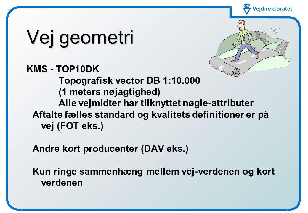 Vej geometri KMS - TOP10DK Topografisk vector DB 1:10.000