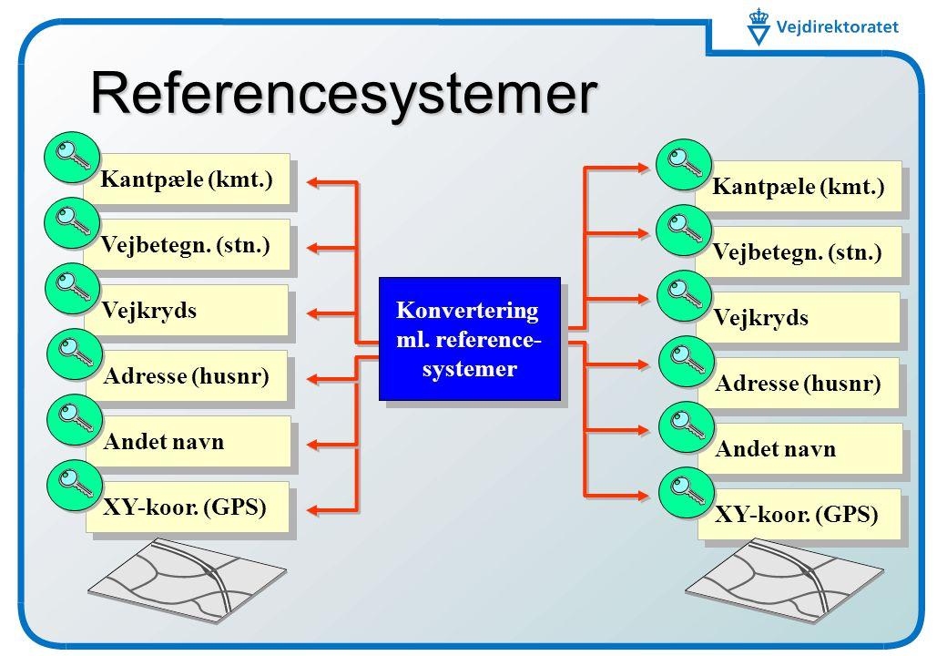 Referencesystemer Kantpæle (kmt.) Kantpæle (kmt.) Vejbetegn. (stn.)