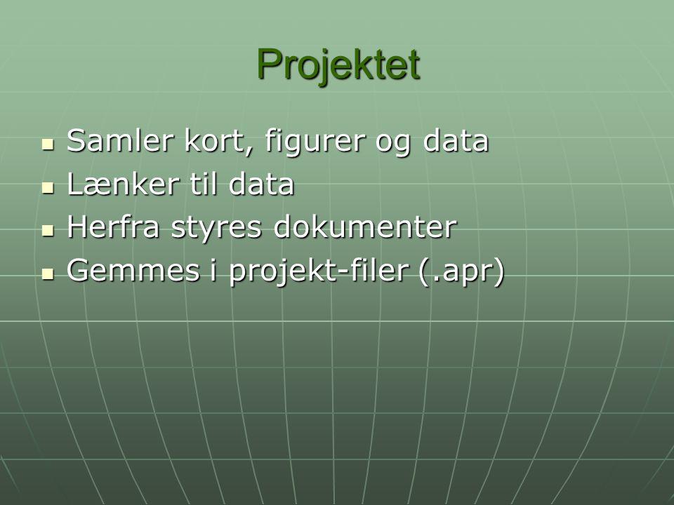 Projektet Samler kort, figurer og data Lænker til data