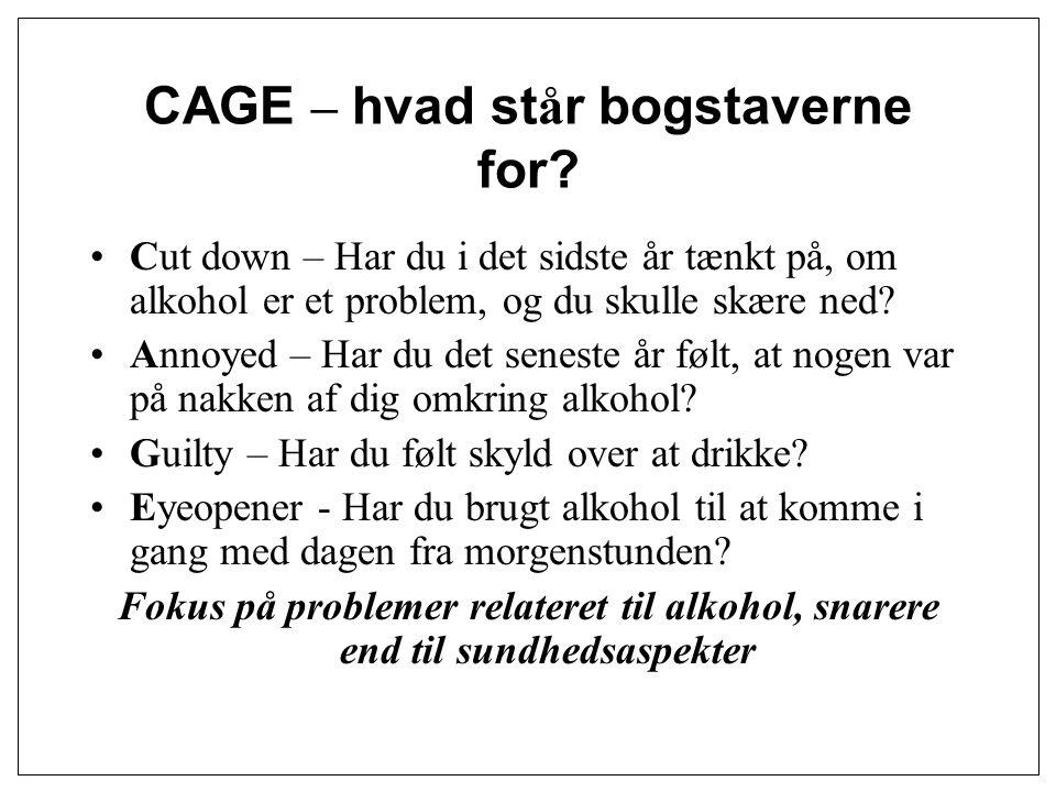 CAGE – hvad står bogstaverne for