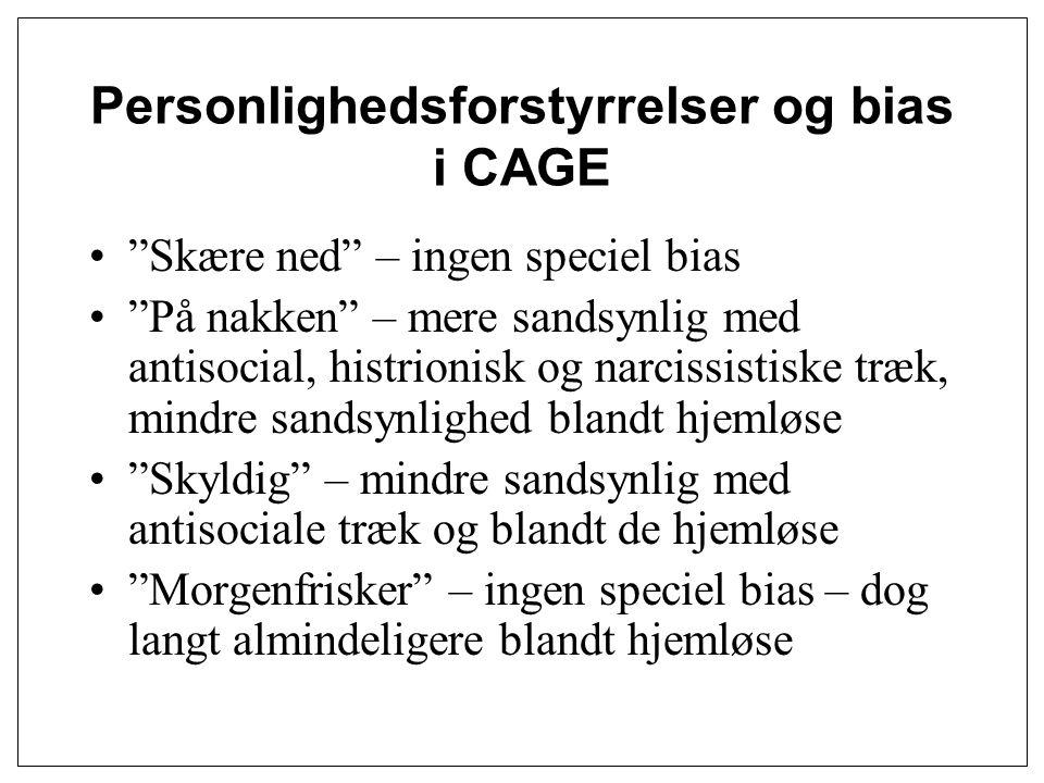 Personlighedsforstyrrelser og bias i CAGE