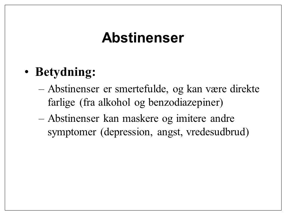 Abstinenser Betydning: