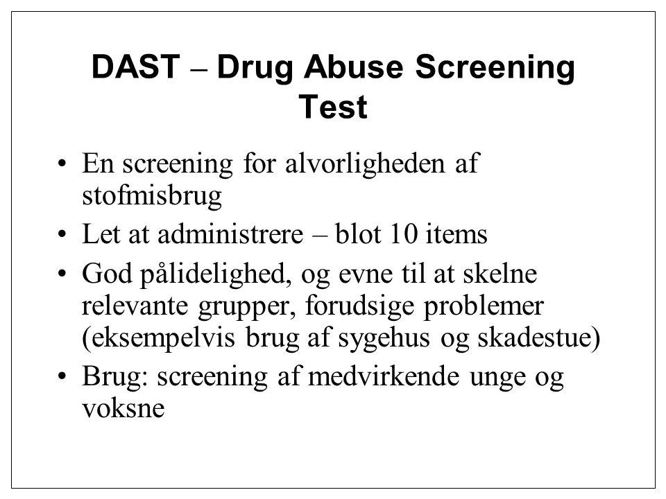 DAST – Drug Abuse Screening Test