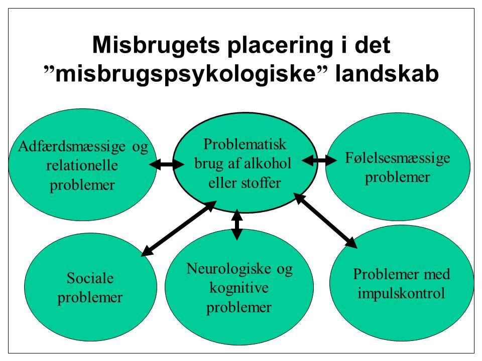Misbrugets placering i det misbrugspsykologiske landskab