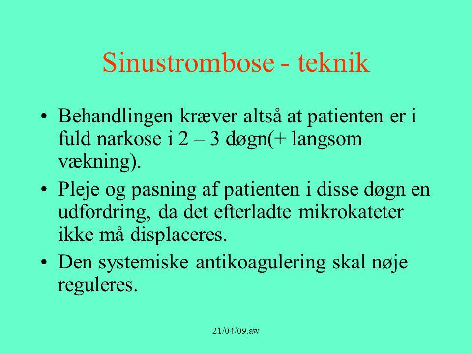 Sinustrombose - teknik