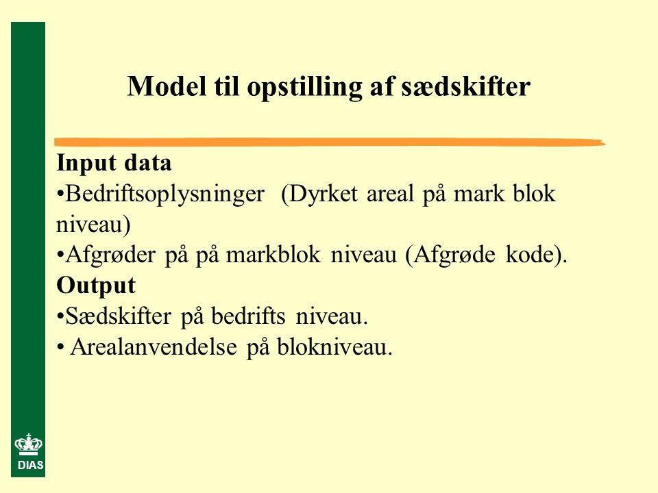 Model til opstilling af sædskifter