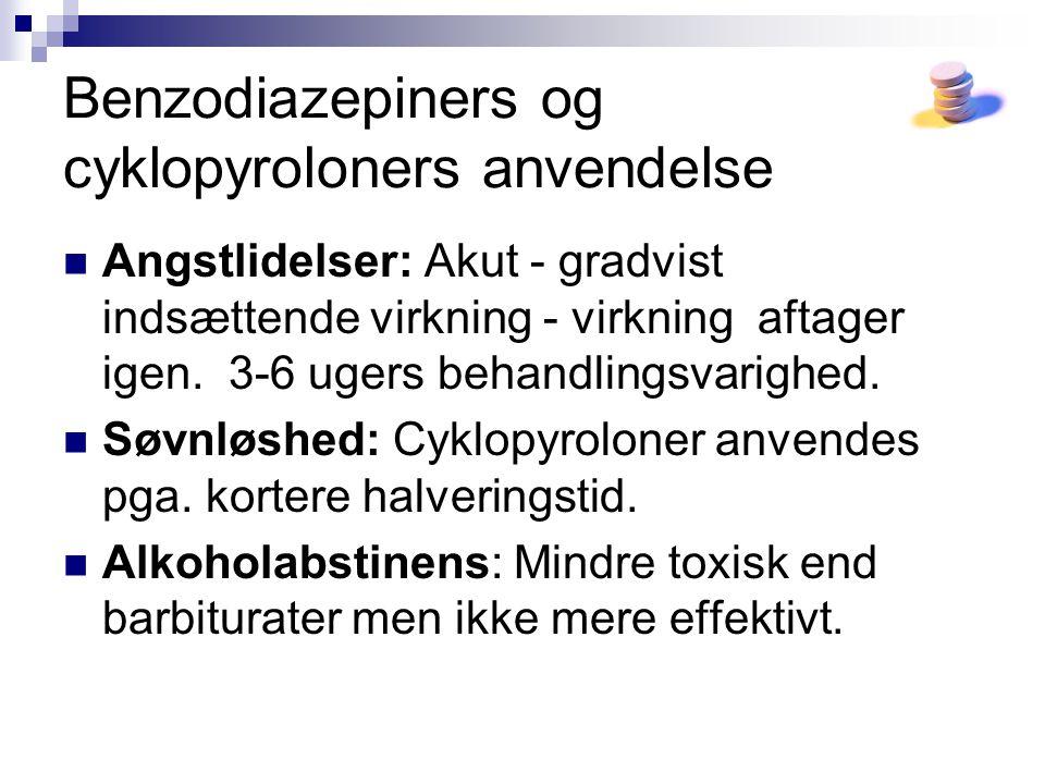Benzodiazepiners og cyklopyroloners anvendelse