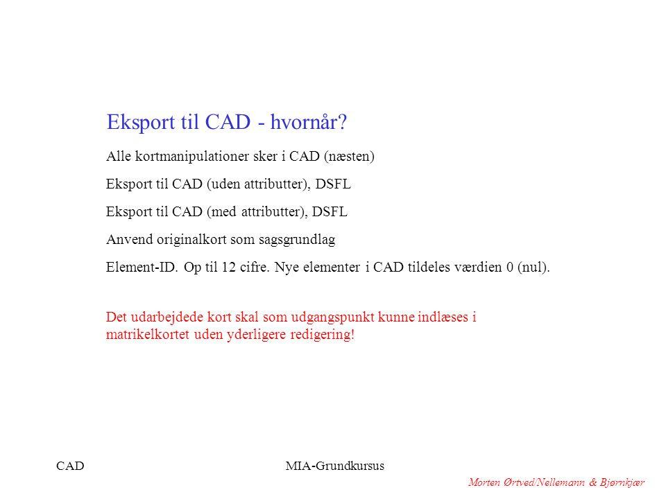 Eksport til CAD - hvornår