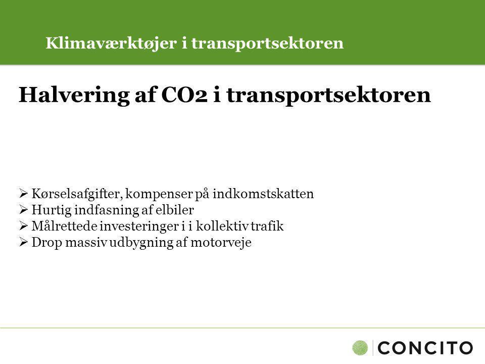 Halvering af CO2 i transportsektoren