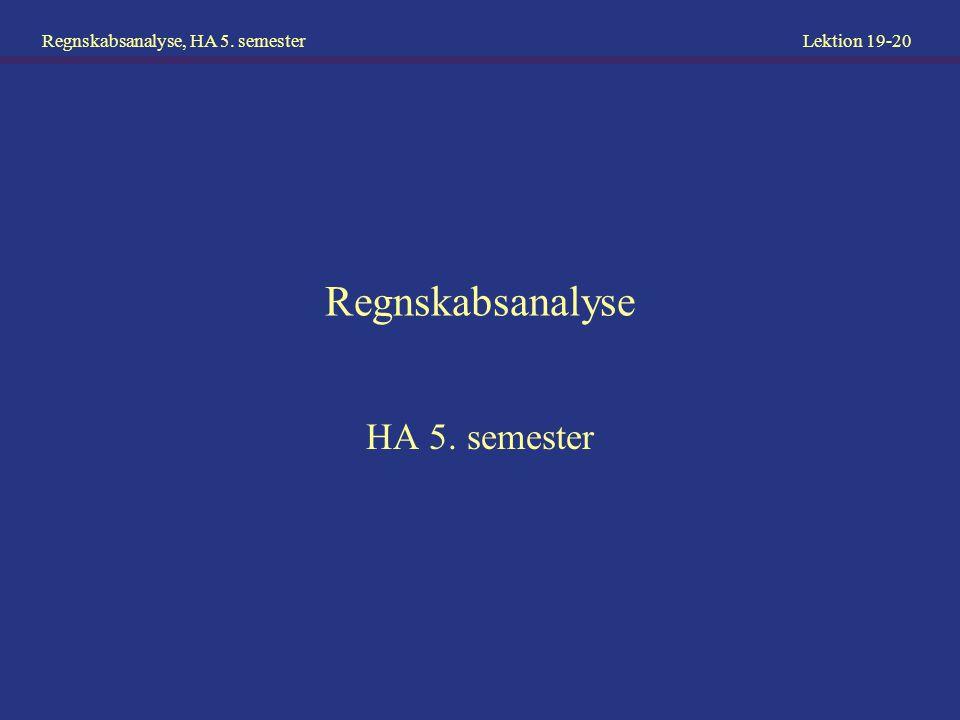Regnskabsanalyse HA 5. semester