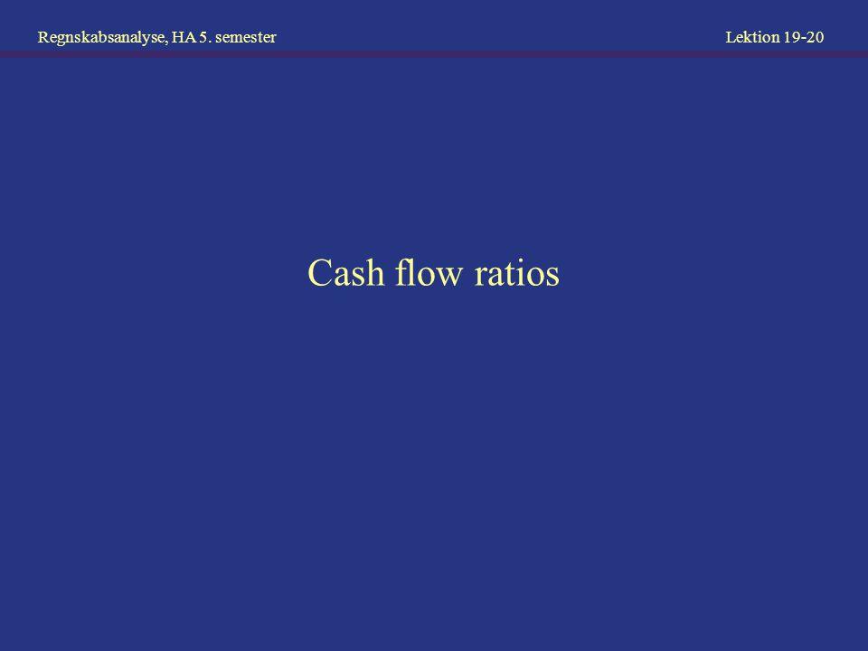 Cash flow ratios