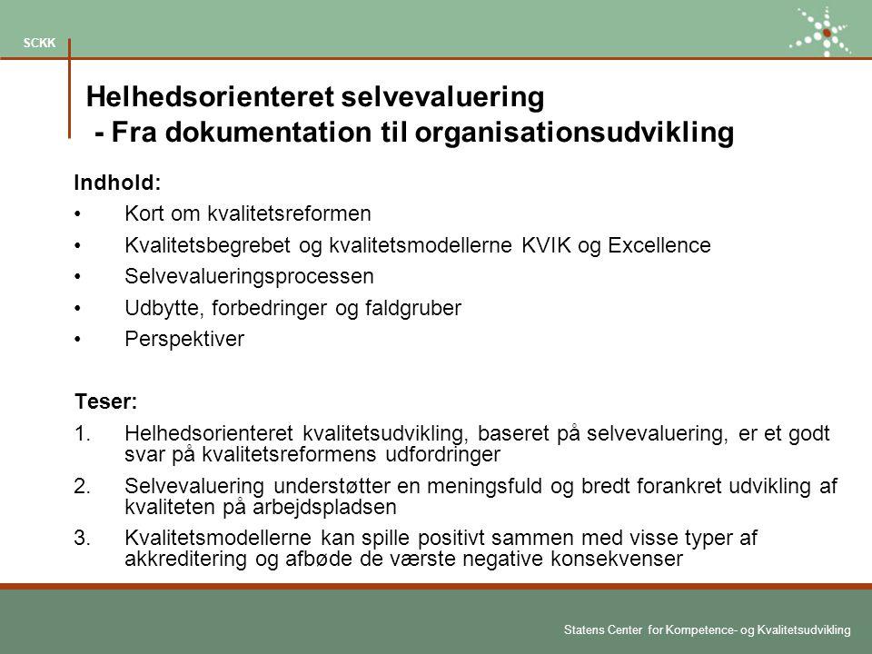 Helhedsorienteret selvevaluering - Fra dokumentation til organisationsudvikling