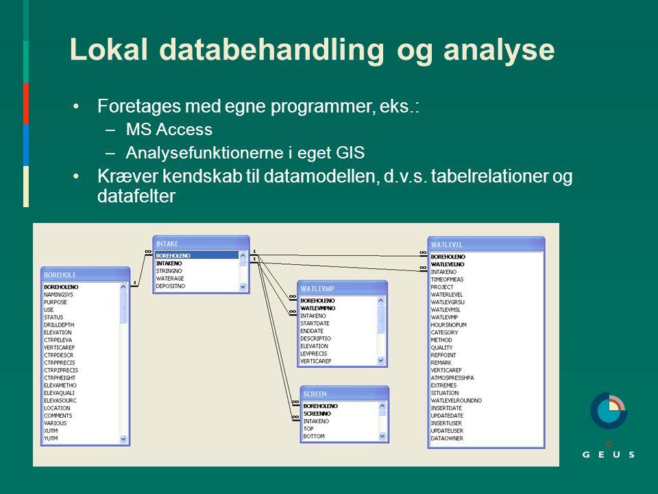 Lokal databehandling og analyse