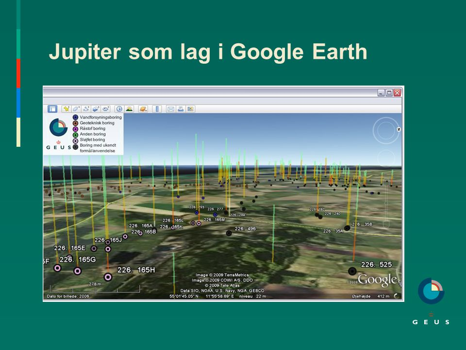 Jupiter som lag i Google Earth