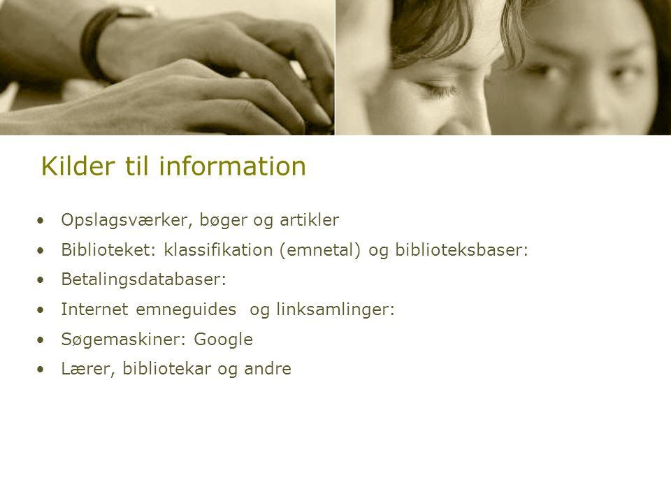 Kilder til information