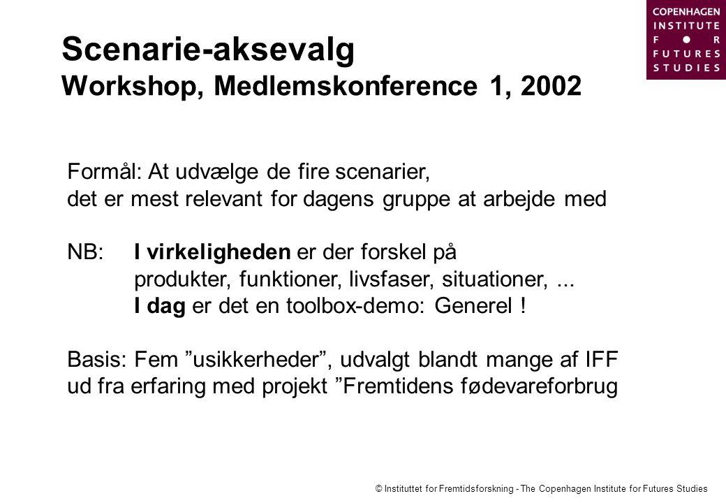 Scenarie-aksevalg Workshop, Medlemskonference 1, 2002