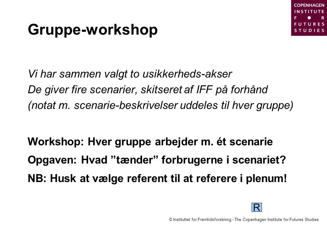 Gruppe-workshop Vi har sammen valgt to usikkerheds-akser