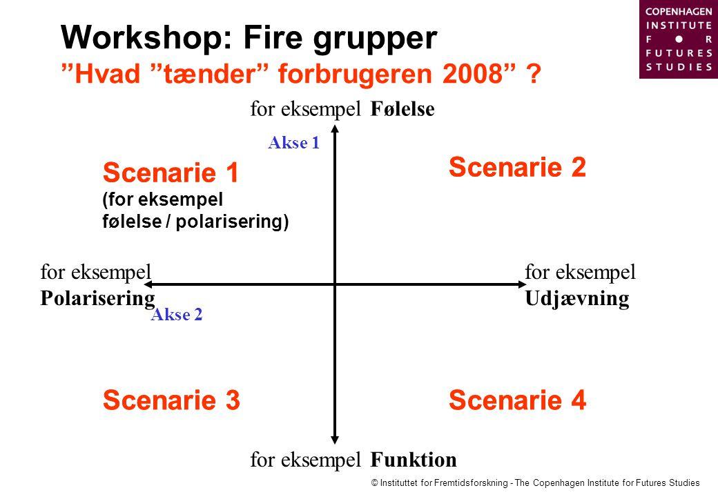 Workshop: Fire grupper Hvad tænder forbrugeren 2008