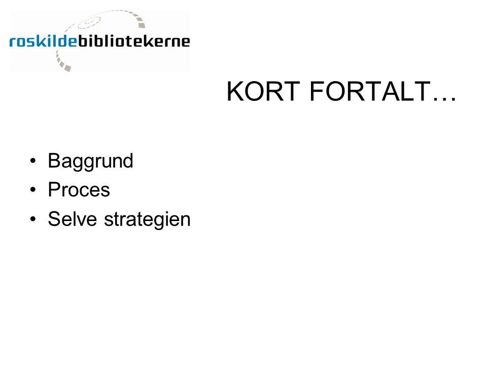 KORT FORTALT… Baggrund Proces Selve strategien
