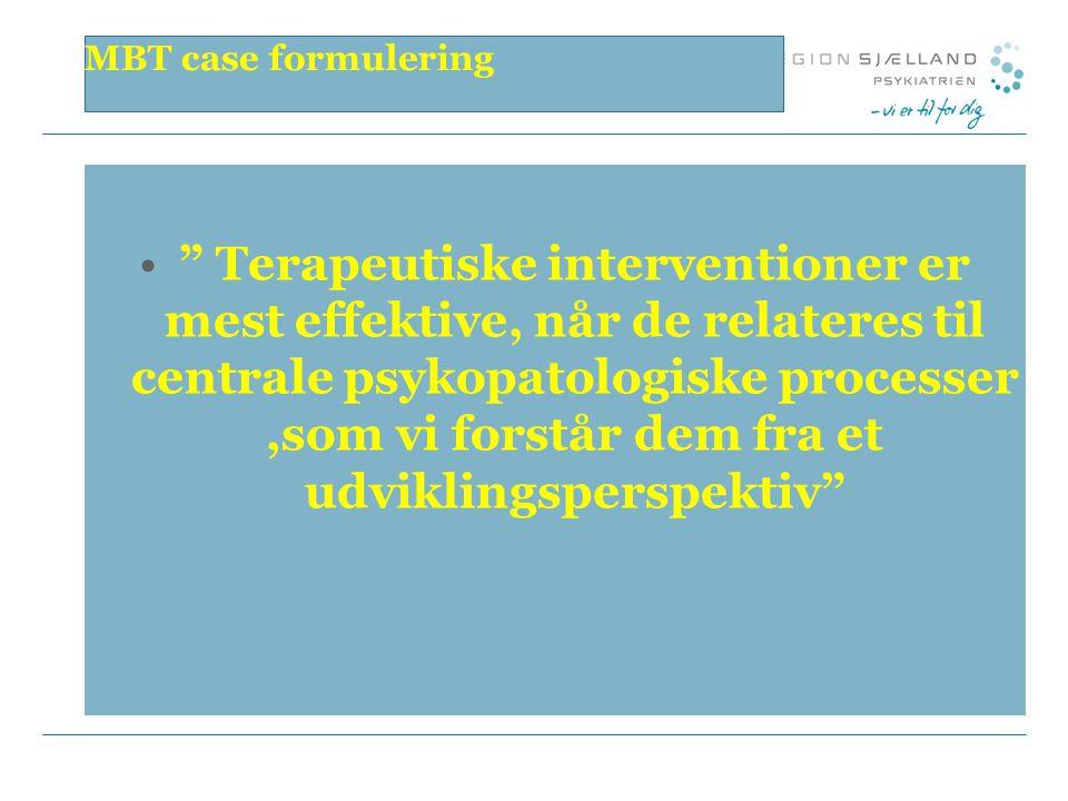 MBT case formulering