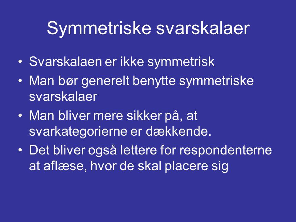 Symmetriske svarskalaer