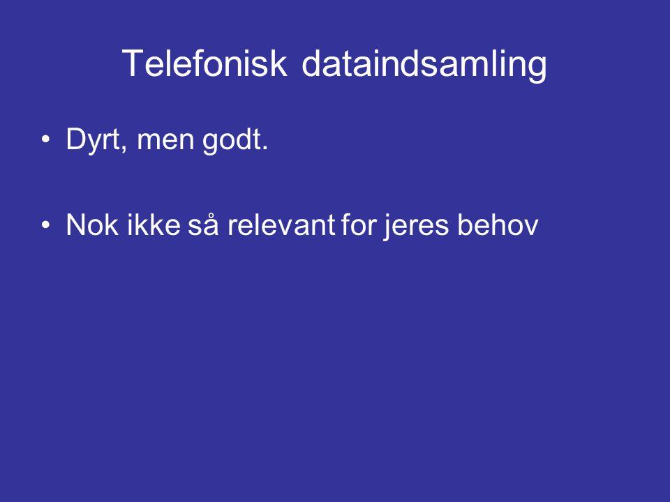 Telefonisk dataindsamling
