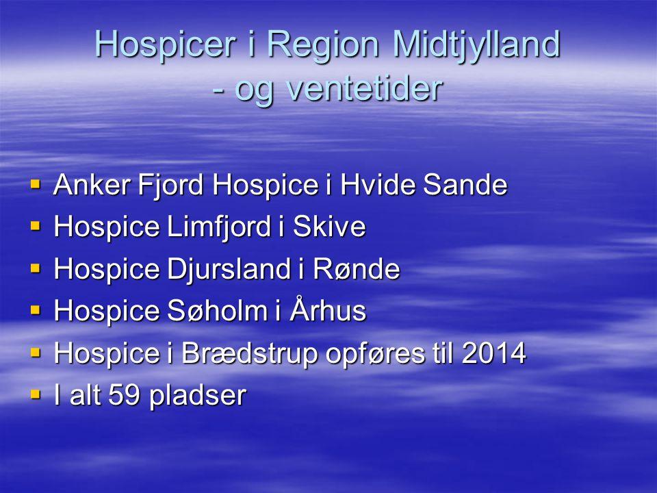 Hospicer i Region Midtjylland - og ventetider