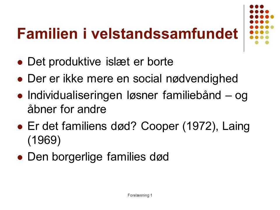 Familien i velstandssamfundet