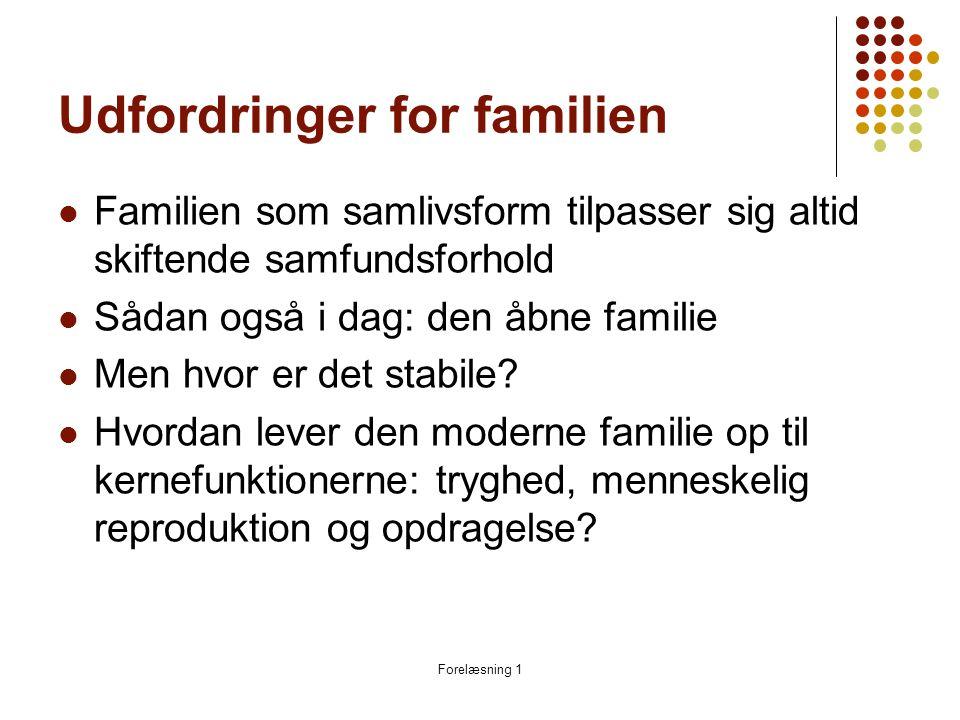 Udfordringer for familien
