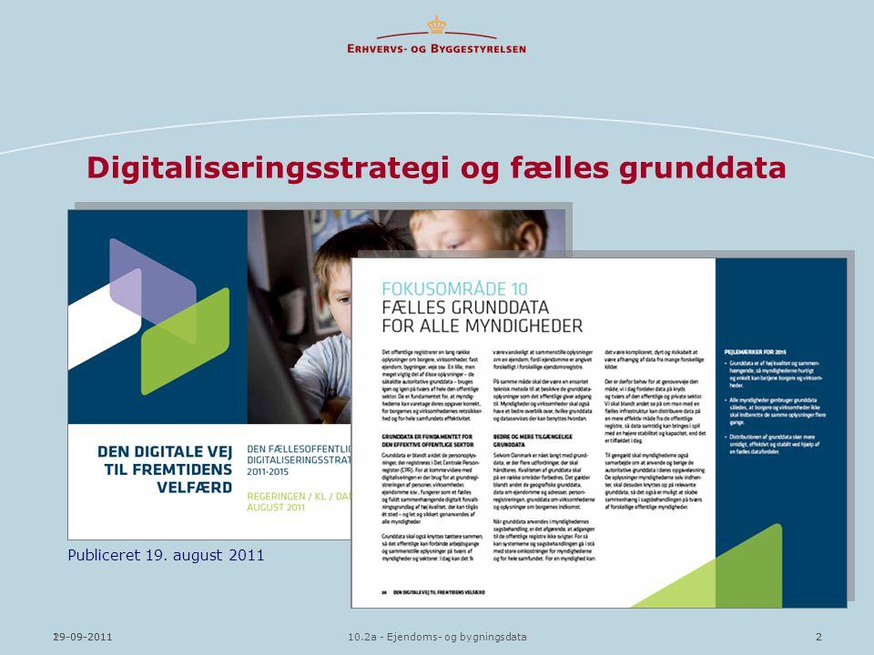 Digitaliseringsstrategi og fælles grunddata