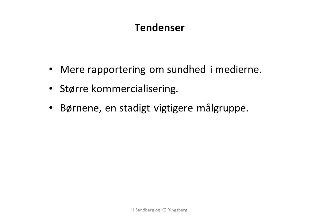 H Sandberg og KC Ringsberg