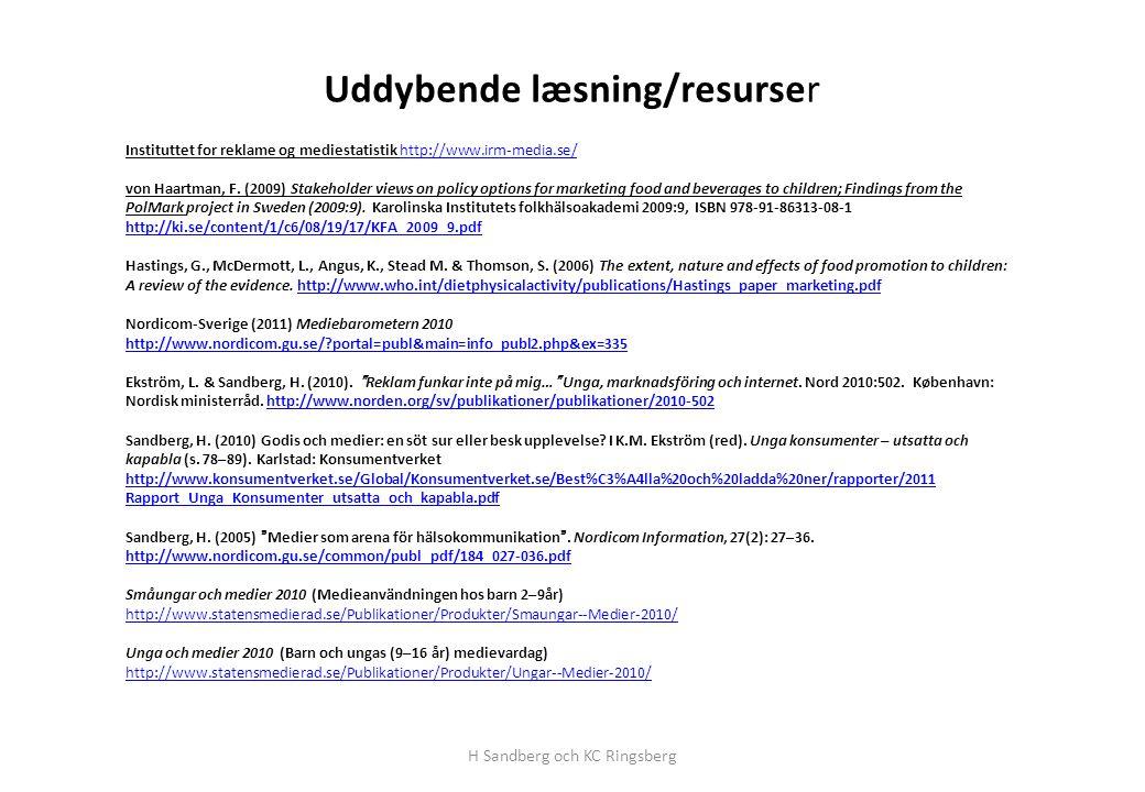 Uddybende læsning/resurser