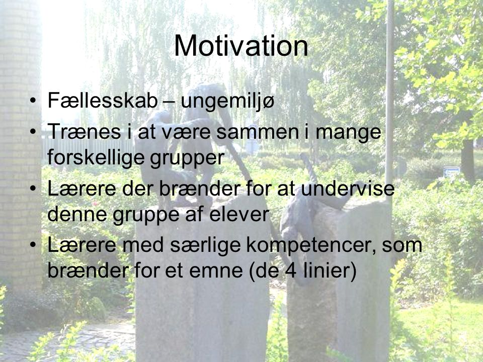 Motivation Fællesskab – ungemiljø
