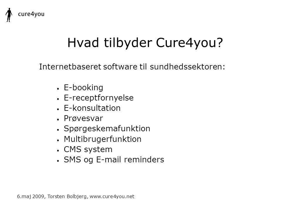 Hvad tilbyder Cure4you Internetbaseret software til sundhedssektoren: