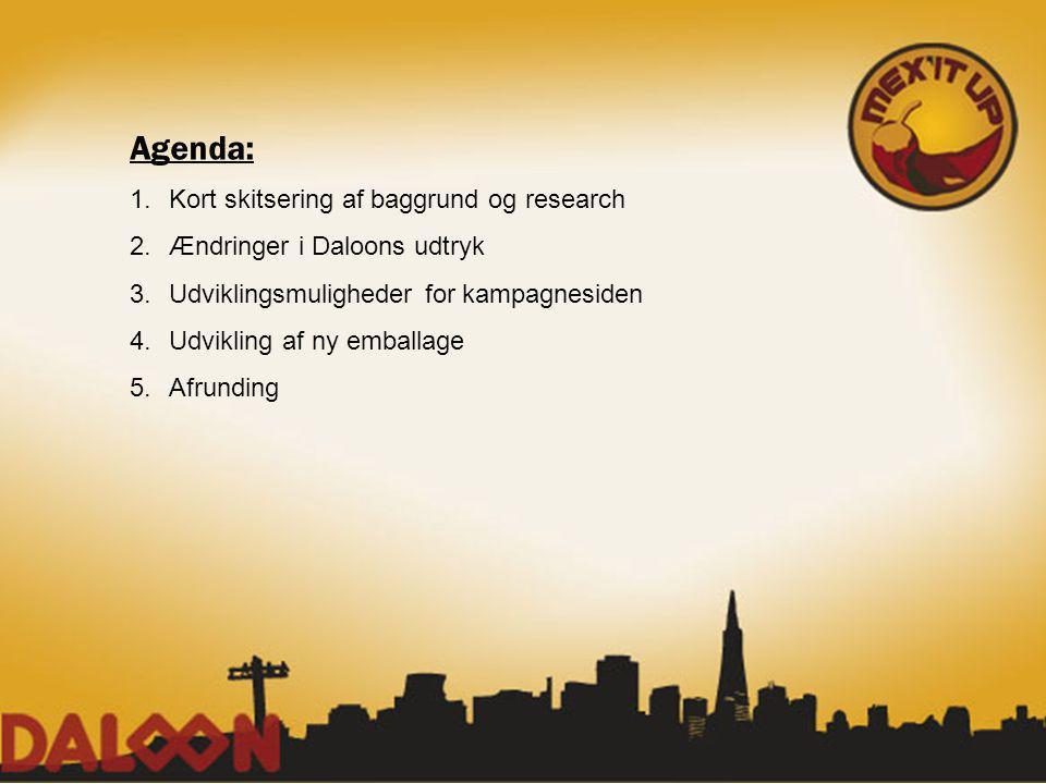 Agenda: Kort skitsering af baggrund og research