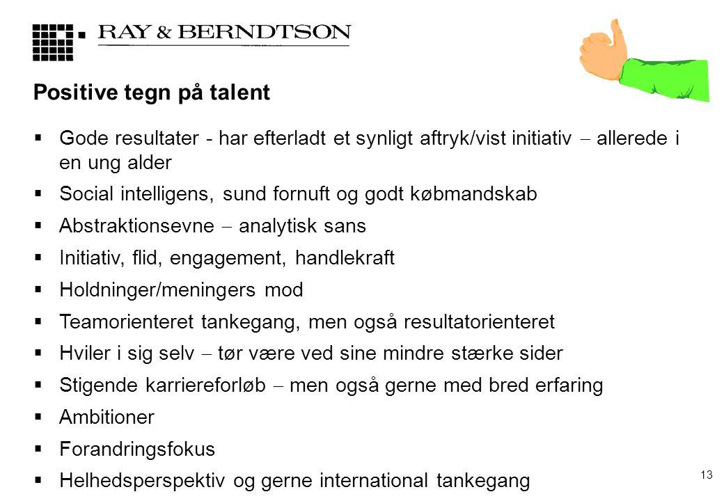Positive tegn på talent