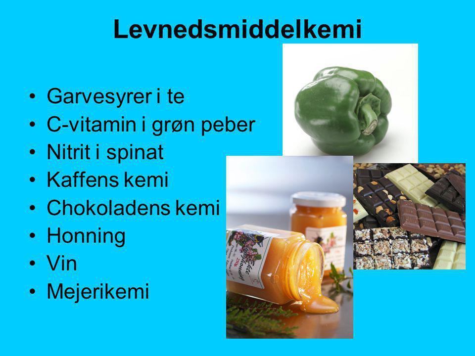 Levnedsmiddelkemi Garvesyrer i te C-vitamin i grøn peber