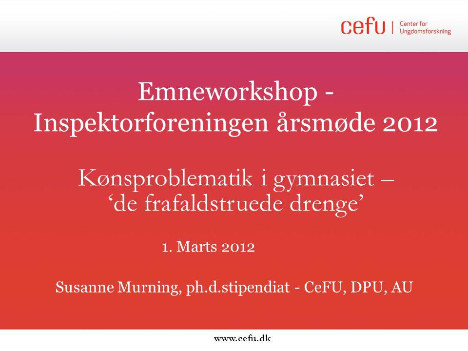 Emneworkshop -Inspektorforeningen årsmøde 2012