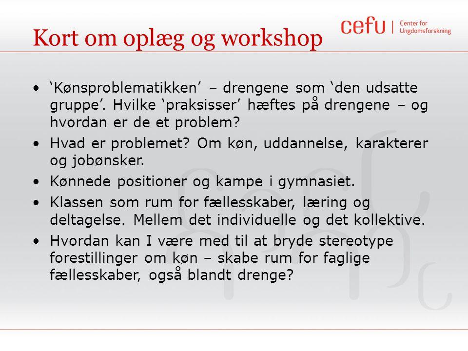 Kort om oplæg og workshop