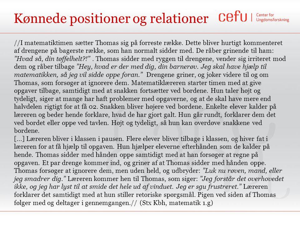 Kønnede positioner og relationer