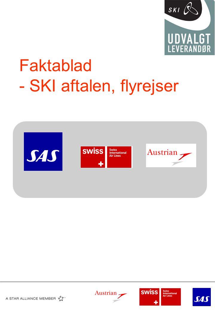 Faktablad - SKI aftalen, flyrejser
