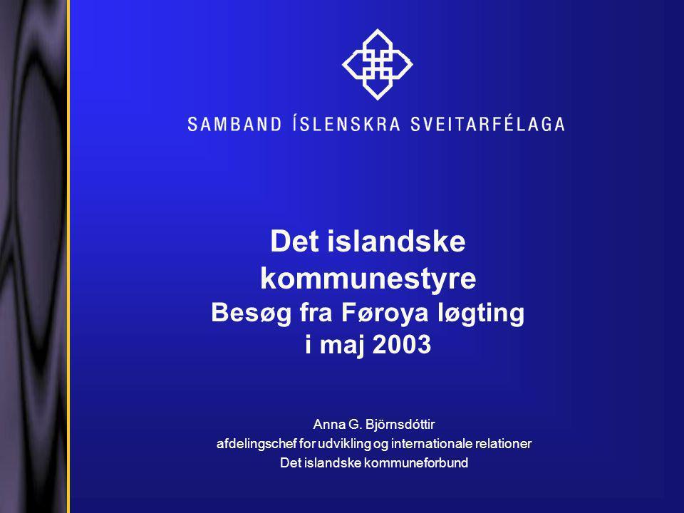 Det islandske kommunestyre Besøg fra Føroya løgting i maj 2003