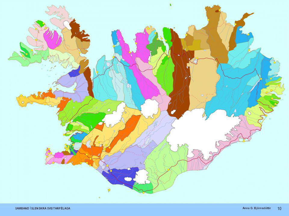 Islandske kommuner 2003